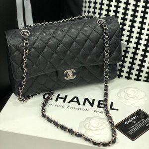 Chanel Jumbo Caviar Silver Hardware Bag.NEW BAG
